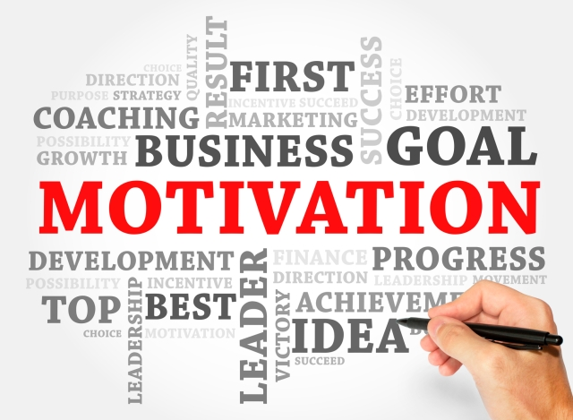 MOTIVATION word cloud, business concept
